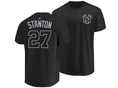 New York Yankees Giancarlo Stanton Majestic MLB Men's Pitch Black Player T-Shirt