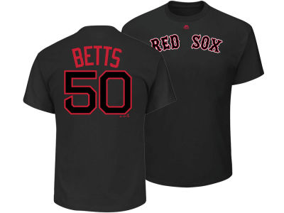 Boston Red Sox Mookie Betts Majestic MLB Men's Pitch Black Player T-Shirt