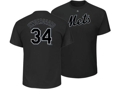 New York Mets Noah Syndergaard Majestic MLB Men's Pitch Black Player T-Shirt