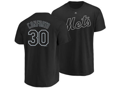 New York Mets Michael Conforto Majestic MLB Men's Pitch Black Player T-Shirt