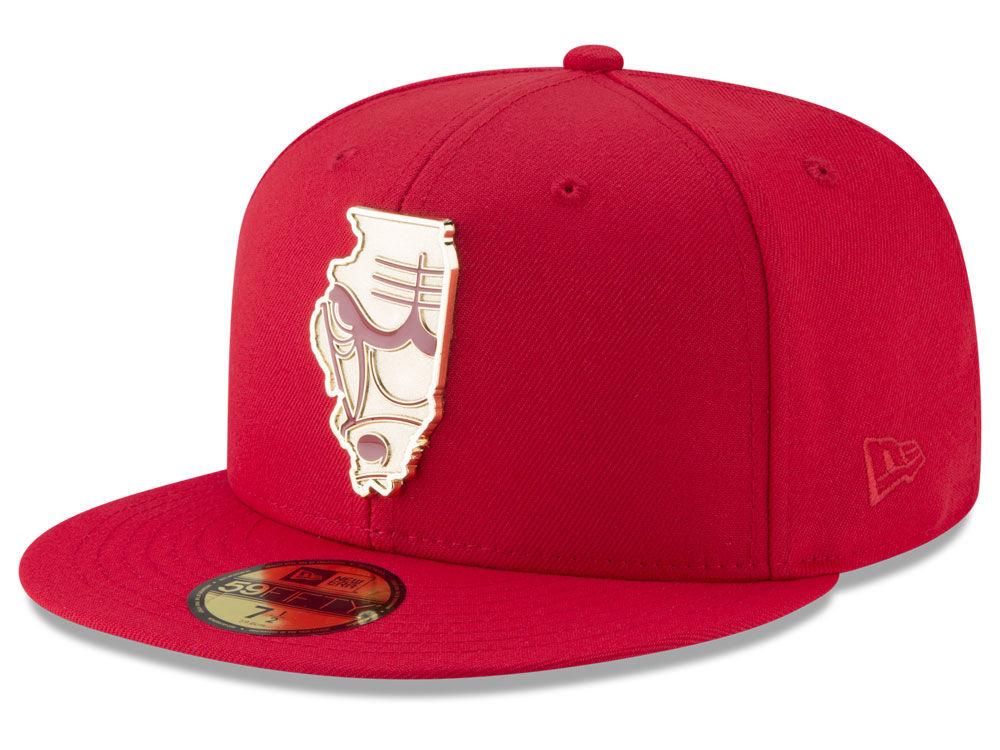 6c122ebfcfe Chicago Bulls New Era NBA Gold Stated 59FIFTY Cap