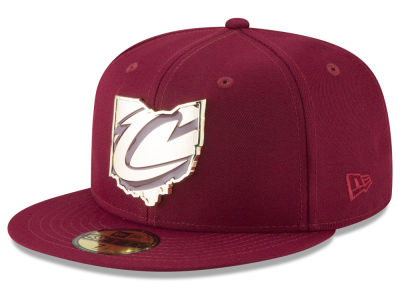 Cleveland Cavaliers New Era NBA Gold Stated 59FIFTY Cap