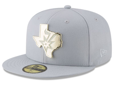 San Antonio Spurs New Era NBA Gold Stated 59FIFTY Cap