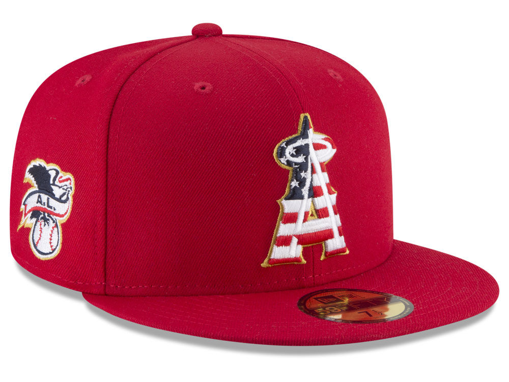 promo code 0db5e 98c7a ... discount code for los angeles angels new era 2018 mlb stars and stripes 59fifty  cap b424f