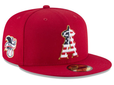 Los Angeles Angels New Era 2018 MLB Stars and Stripes 59FIFTY Cap