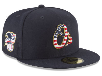 Baltimore Orioles New Era 2018 MLB Stars and Stripes 59FIFTY Cap