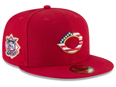 Cincinnati Reds New Era 2018 MLB Stars and Stripes 59FIFTY Cap