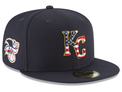 Kansas City Royals New Era 2018 MLB Stars and Stripes 59FIFTY Cap
