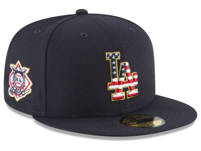Los Angeles Dodgers New Era 2018 MLB Stars and Stripes 59FIFTY Cap