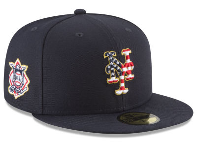 New York Mets New Era 2018 MLB Stars and Stripes 59FIFTY Cap