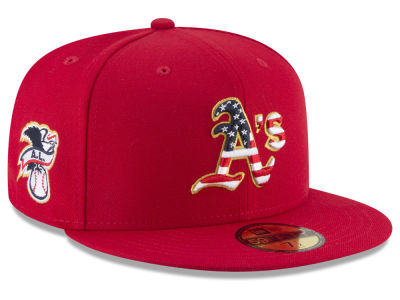Oakland Athletics New Era 2018 MLB Stars and Stripes 59FIFTY Cap
