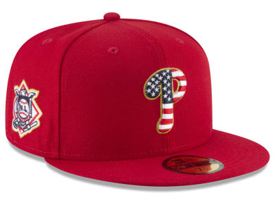 Philadelphia Phillies New Era 2018 MLB Stars and Stripes 59FIFTY Cap