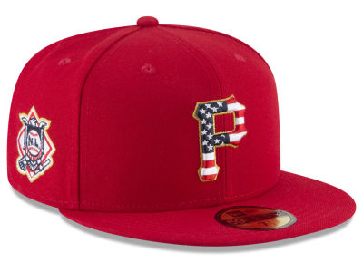 Pittsburgh Pirates New Era 2018 MLB Stars and Stripes 59FIFTY Cap
