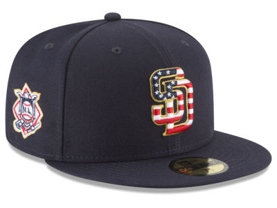 San Diego Padres New Era 2018 MLB Stars and Stripes 59FIFTY Cap