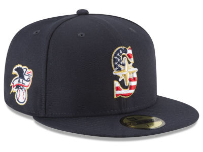 Seattle Mariners New Era 2018 MLB Stars and Stripes 59FIFTY Cap