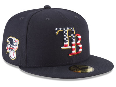 Tampa Bay Rays New Era 2018 MLB Stars and Stripes 59FIFTY Cap