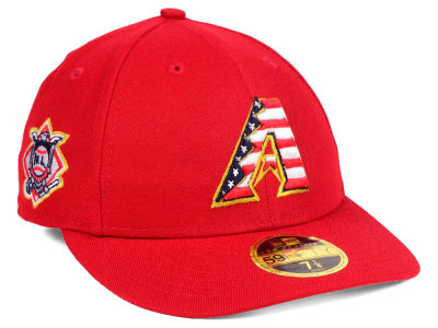 Arizona Diamondbacks New Era 2018 MLB Stars and Stripes Low Profile 59FIFTY Cap