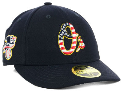 Baltimore Orioles New Era 2018 MLB Stars and Stripes Low Profile 59FIFTY Cap