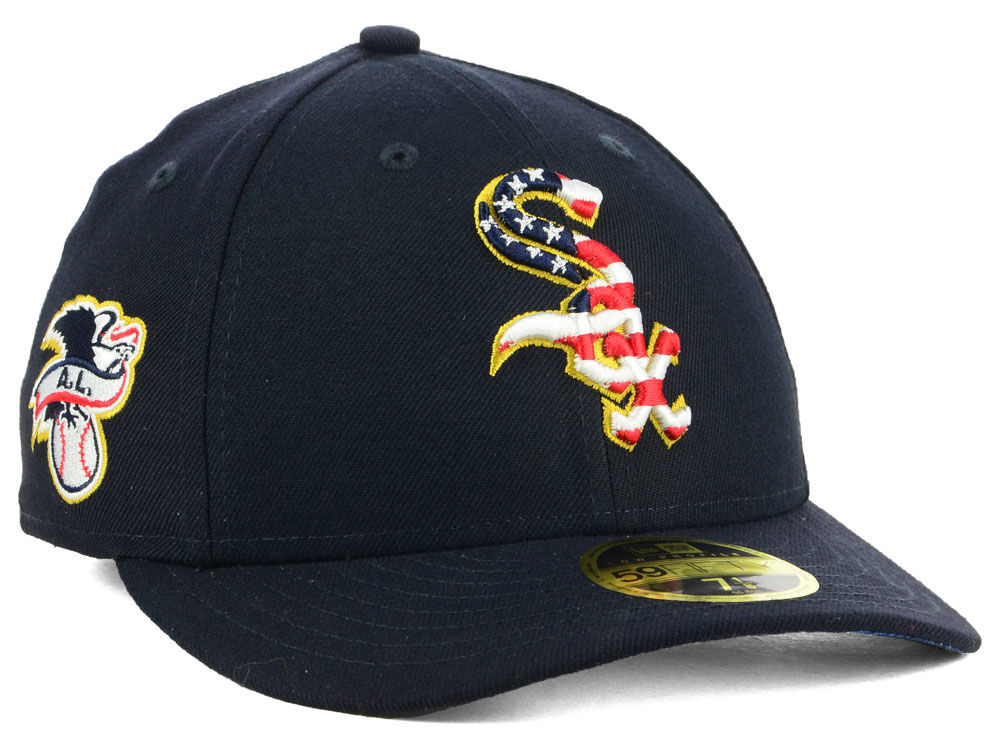 1871acd9e1a Chicago White Sox New Era 2018 MLB Stars and Stripes Low Profile 59FIFTY Cap