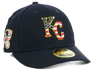Kansas City Royals New Era 2018 MLB Stars and Stripes Low Profile 59FIFTY Cap