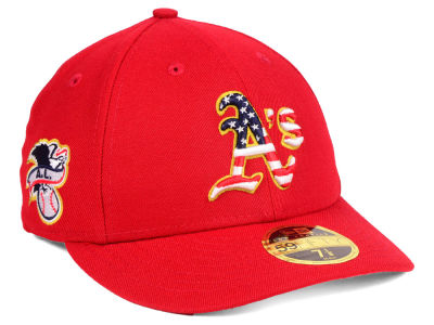 Oakland Athletics New Era 2018 MLB Stars and Stripes Low Profile 59FIFTY Cap