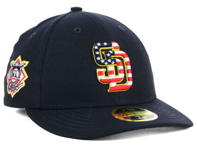 San Diego Padres New Era 2018 MLB Stars and Stripes Low Profile 59FIFTY Cap
