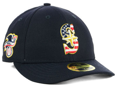 Seattle Mariners New Era 2018 MLB Stars and Stripes Low Profile 59FIFTY Cap