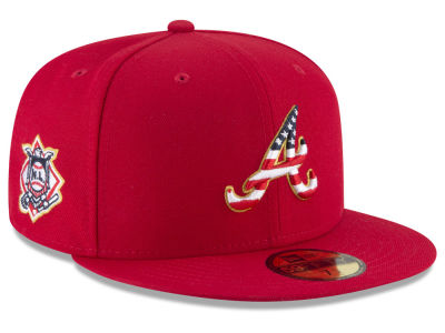 Atlanta Braves New Era 2018 MLB Kids Stars and Stripes 59FIFTY Cap
