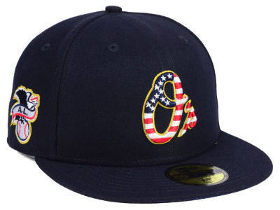 Baltimore Orioles New Era 2018 MLB Kids Stars and Stripes 59FIFTY Cap