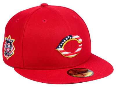 Cincinnati Reds New Era 2018 MLB Kids Stars and Stripes 59FIFTY Cap