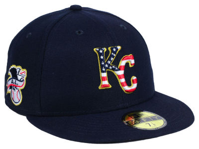 Kansas City Royals New Era 2018 MLB Kids Stars and Stripes 59FIFTY Cap