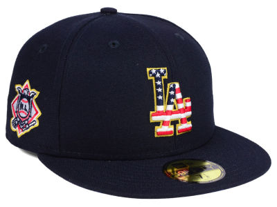 Los Angeles Dodgers New Era 2018 MLB Kids Stars and Stripes 59FIFTY Cap