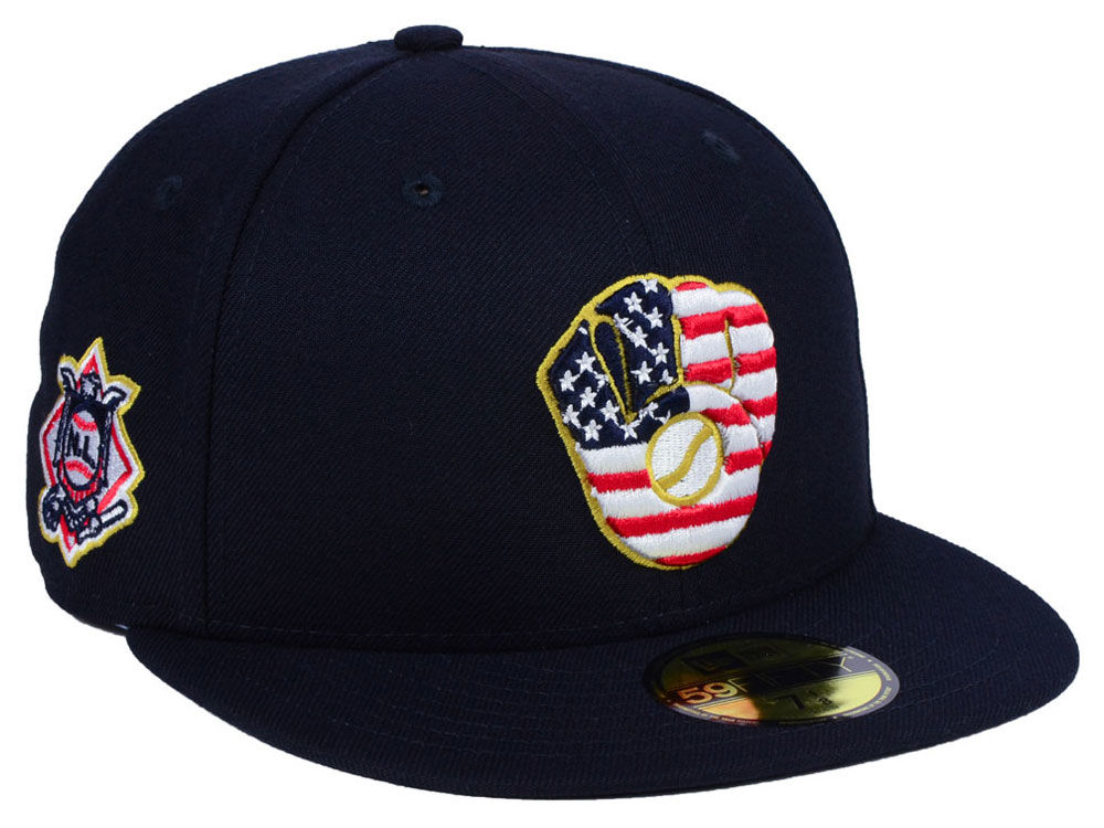 brand new 7314d c8a07 ... where to buy milwaukee brewers new era 2018 mlb kids stars and stripes  59fifty cap 35c65