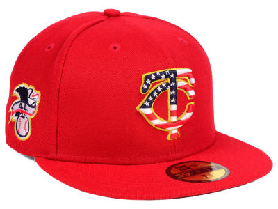 Minnesota Twins New Era 2018 MLB Kids Stars and Stripes 59FIFTY Cap