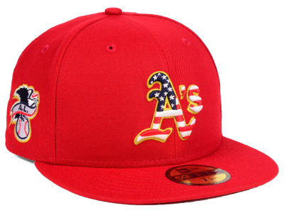 Oakland Athletics New Era 2018 MLB Kids Stars and Stripes 59FIFTY Cap