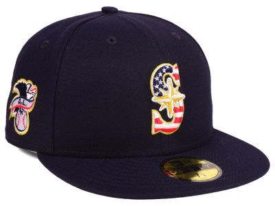 Seattle Mariners New Era 2018 MLB Kids Stars and Stripes 59FIFTY Cap