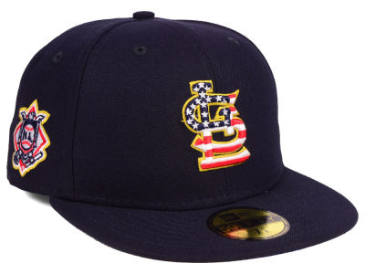 St. Louis Cardinals New Era 2018 MLB Kids Stars and Stripes 59FIFTY Cap