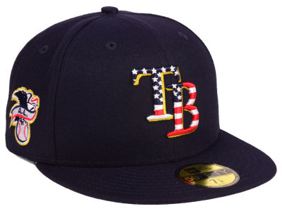 Tampa Bay Rays New Era 2018 MLB Kids Stars and Stripes 59FIFTY Cap