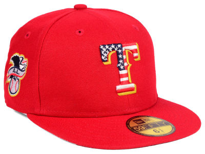 Texas Rangers New Era 2018 MLB Kids Stars and Stripes 59FIFTY Cap