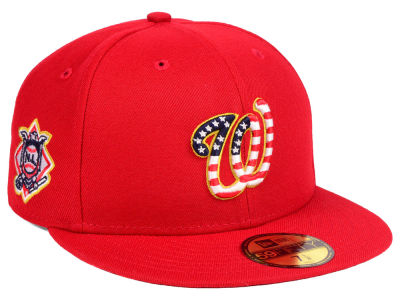 Washington Nationals New Era 2018 MLB Kids Stars and Stripes 59FIFTY Cap