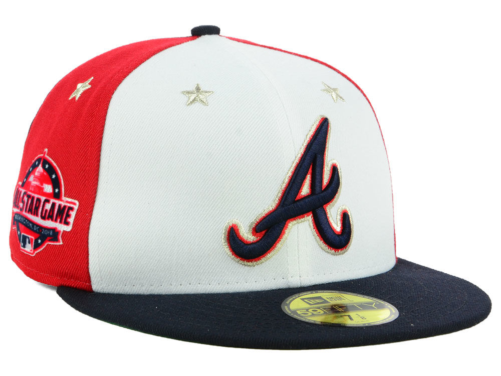 611233dadff0d2 ... sale atlanta braves new era 2018 mlb all star game patch 59fifty cap  51286 77ae9