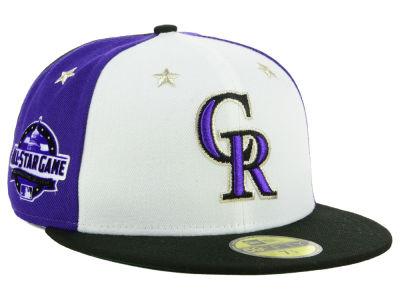 Colorado Rockies New Era 2018 MLB All Star Game Patch 59FIFTY Cap ef9edef7ea10