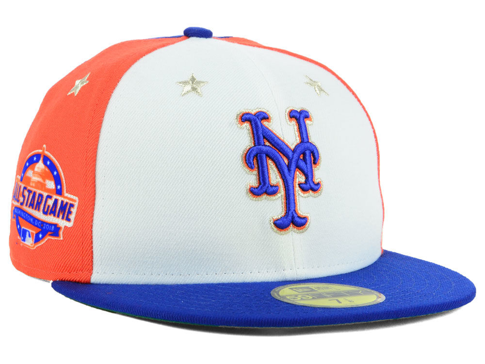 New York Mets New Era 2018 MLB All Star Game Patch 59FIFTY Cap ... 4677374aa7a