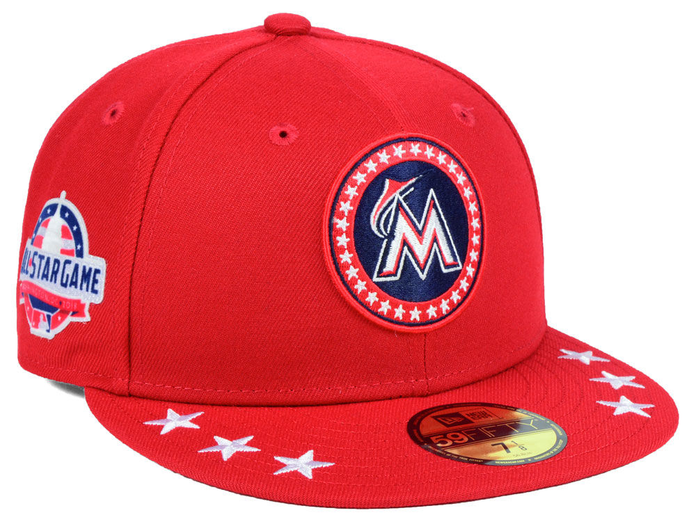 size 40 0b71e a584d ... authentic miami marlins new era 2018 mlb all star workout 59fifty cap  89523 13645