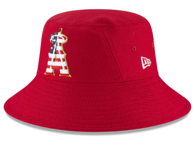 Los Angeles Angels New Era 2018 MLB Stars and Stripes Bucket