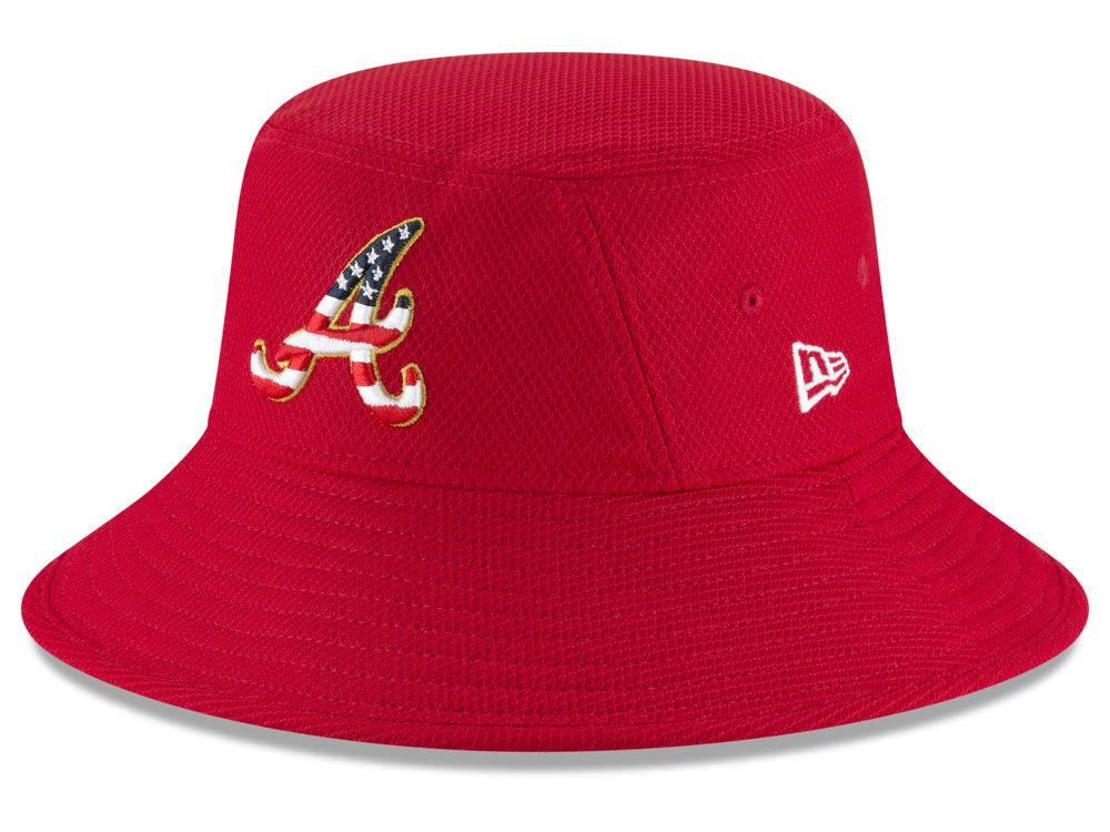 acc5a4a9491 Atlanta Braves New Era 2018 MLB Stars and Stripes Bucket