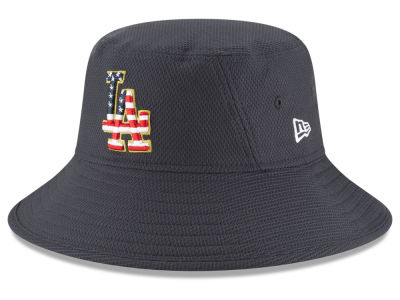 Los Angeles Dodgers New Era 2018 MLB Stars and Stripes Bucket