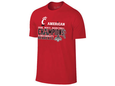 Cincinnati Bearcats Retro Brand 2018 NCAA Men's AAC Tourney Champ Locker Room T-Shirt