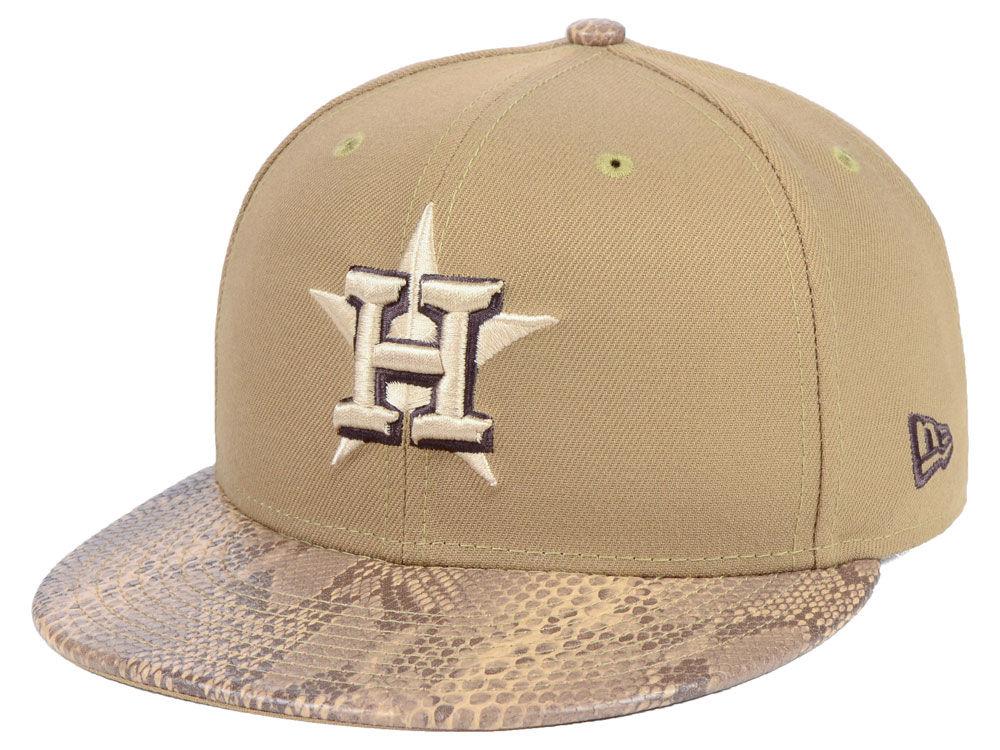 d123e487aa3 Houston Astros New Era MLB Snakeskin Sleek 59FIFTY Cap