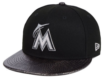Miami Marlins New Era MLB Snakeskin Sleek 59FIFTY Cap